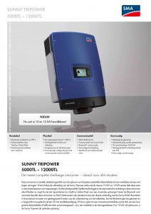 SMA STP 5000 TL-20 tm STP 12000 TL-20