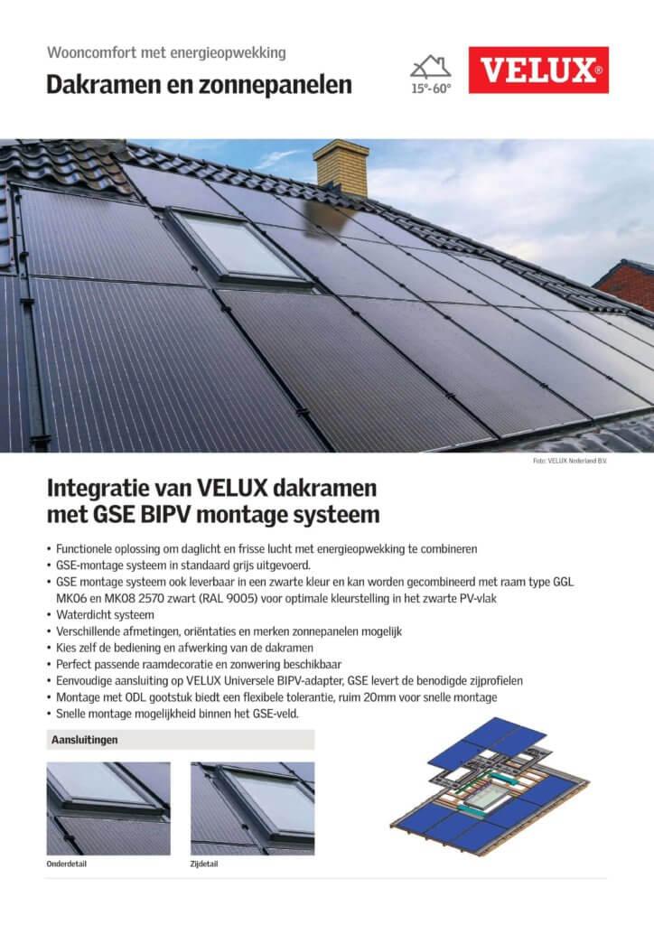GSE Indaksysteem - Velux Datasheet